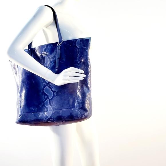 Coach Handbags - COACH JOSIE XL EMBOSSED PYTHON TOTE